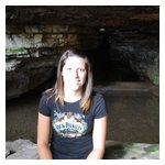 Lindsey  at the Limestone cave